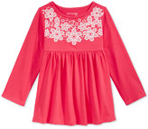 First Impressions Baby Girls' Long-Sleeve Lace-Detail Babydoll Tunic, Only at Macy's