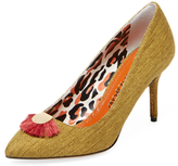 Charlotte Olympia Desiree Gone Wild Linen Pump