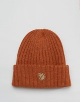 Fjallraven Byron Wool Beanie In Brown