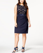 Connected Plus Size Lace Tiered Sheath Dress