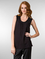 Sleeveless Tiered Shoulder Top in Black