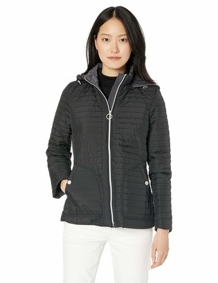 Anne Klein Women's All Year Jacket with Removable Hood