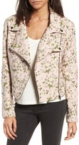 Blank NYC Women's Blanknyc Floral Jacquard Moto Jacket