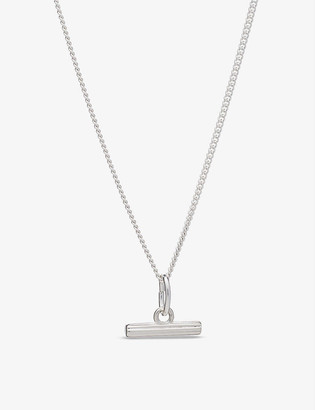 Rachel Jackson Momento mini T-bar 22ct yellow gold-plated sterling silver necklace