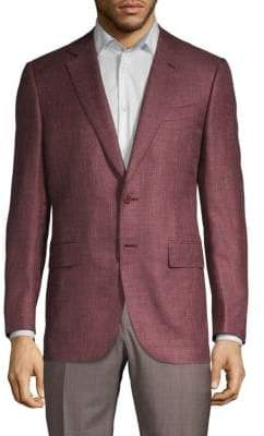 Canali Solid Twill Sportcoat