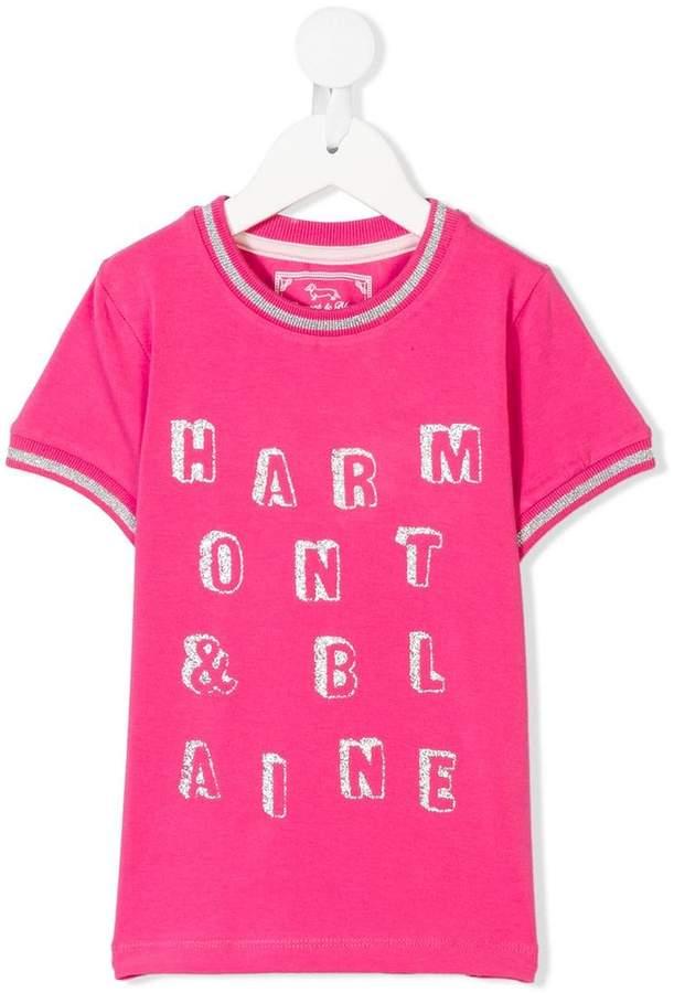 Harmont & Blaine Junior glitter logo T-shirt