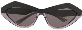 Bottega Veneta Angular Cat-Eye Sunglasses