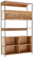 west elm Industrial Modular 124cm Open and Closed Storage Bookshelf