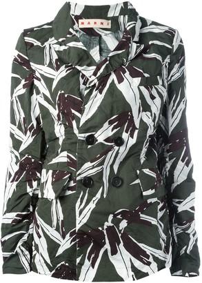 Marni leaf pattern blazer