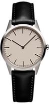 Uniform Wares C35psi01napblk181r01 C35 Leather Strap Watch, Black/cream