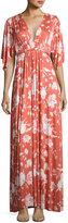 Rachel Pally Floral-Print Caftan Maxi Dress, Chipotle Peony