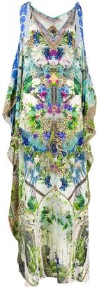 Camilla Moon Garden Scarf Tie Kaftan dress