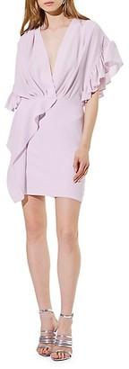 IRO Cedar Ruffle Faux-Wrap Sheath Dress