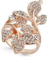 INC International Concepts Rose Gold-Tone Pavé Multi-Leaf Ring, Only at Macy's