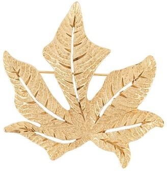 Christian Dior Pre-Owned Autumn Leaf Brooch