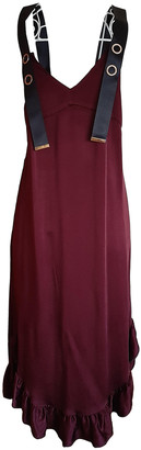 Mother of Pearl Burgundy Silk Dresses