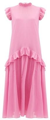 Rhode Resort Mary Ruffled Cotton Dress - Pink