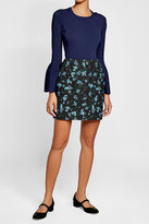 Emilia Wickstead Printed Wool Skirt