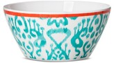 Mudhut Ikat 6in Melamine Cereal Bowl - Blue