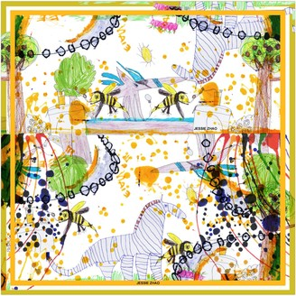 Jessie Zhao New York Silk Scarf In Yellow Of Wonderful World Once Upon A Time