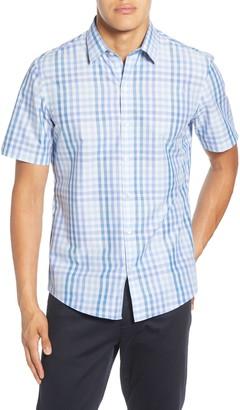 Zachary Prell Weaver Regular Fit Check Short Sleeve Button-Up Shirt