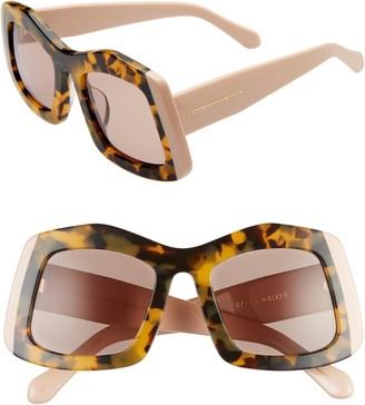 Karen Walker Wyndham 53mm Irregular Square Sunglasses