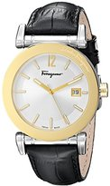 Salvatore Ferragamo Men's FP1860014 Salvatore Analog Display Quartz Black Watch