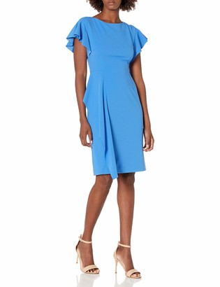 Vince Camuto Women's Scuba Crepe Bodycon Dress with Flutter Sleeves