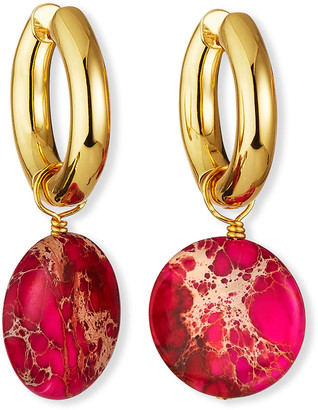 Nest Jewelry Magenta Jasper Huggie Hoop Earrings