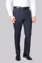 Savoy Taylors Guild Regular Fit Blue Check Pants