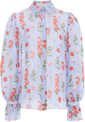Carolina Herrera Printed Silk Button-Down Shirt