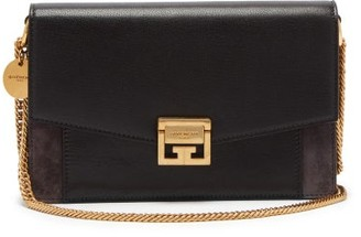 Givenchy Mini Gv3 Leather And Suede Cross-body Bag - Black Grey