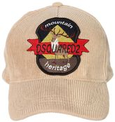 DSQUARED2 Deer Patch Corduroy Baseball Hat