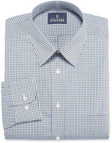 STAFFORD Stafford Travel Performance Super Shirt Long Sleeve Woven Grid Dress Shirt