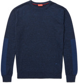 Isaia Mélange Merino Wool Sweater - Blue