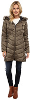Vince Camuto Light Weight Down with Faux Fur Collar J1691