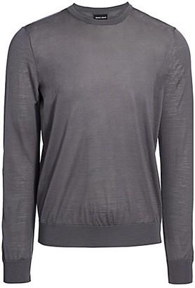 Giorgio Armani Virgin Wool Crewneck Sweater