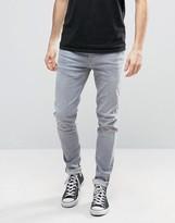 Pepe Jeans Pepe Nickel Powerflex Skinny Jeans Gray Wash