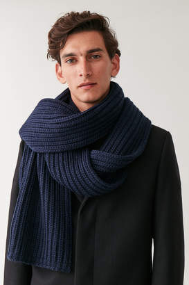 Cos CHUNKY KNIT WOOL SCARF