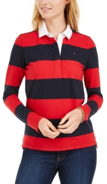 Tommy Hilfiger Striped Rugby Polo Shirt, Created for Macy's