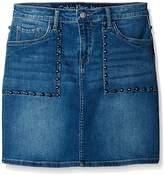 Calvin Klein Jeans Women's Studded Denim Mini a-Line Skirt
