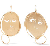 J.W.Anderson Moon Face Gold-plated Earrings - one size
