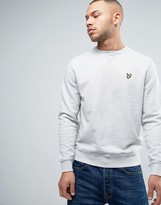 Lyle & Scott Crew Sweatshirt Eagle Logo In Grey Marl
