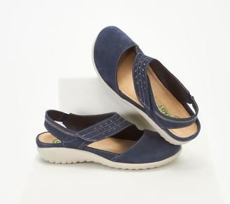Naot Footwear Leather Backstrap Wedge Sandals - Kapua