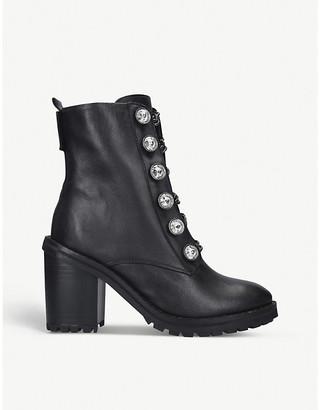Kurt Geiger London Bax Block leather boots