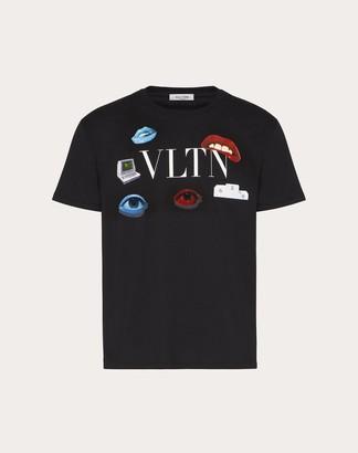 Valentino Villalba Collaboration T-shirt Man Black Cotton 100% L