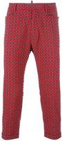 DSQUARED2 tartan cropped trousers - men - Cotton - 46