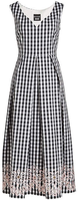 Moschino Embroidered Gingham Dress
