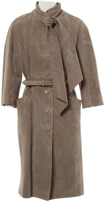 Christian Dior Grey Suede Coat for Women