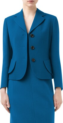 Akris Lausanne Crop Double Face Virgin Wool Jacket
